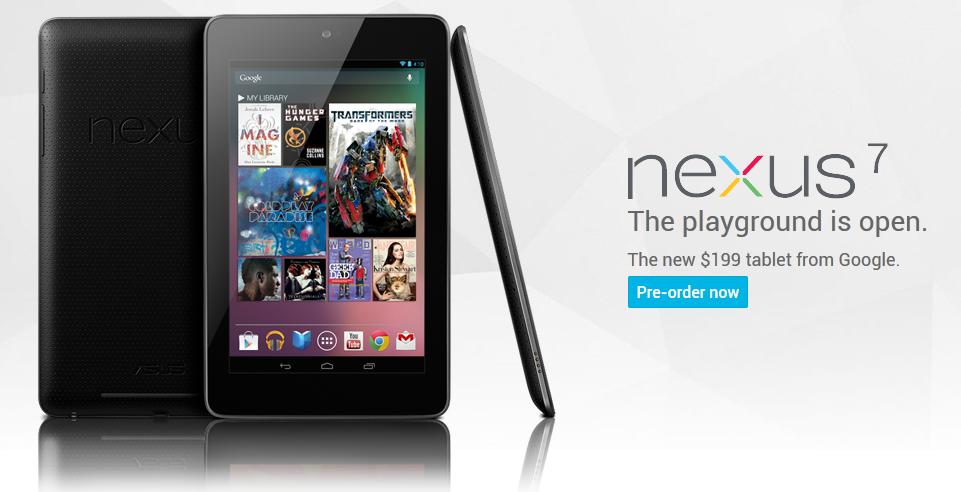 Pre-order Google Nexus 7