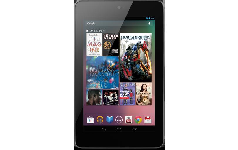Google Nexus 7 - интерфейс прошивки