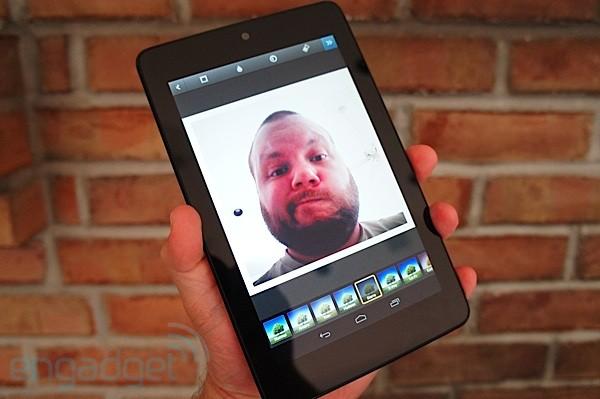 Фронтальная камера в Instagram на планшете Google Nexus 7